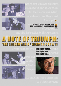 A NOTE OF TRIUMPH: The Golden Age of Norman Corwin (DVD)