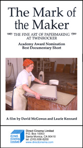 Mark of the Maker, The: The Fine Art of Papermaking at Twinrocker (VHS)